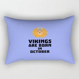 Vikings are born in October T-Shirt D0v8r Rectangular Pillow