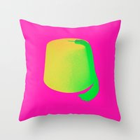 fez Throw Pillows featuring A Fez Hat is Cool by City Gypsy