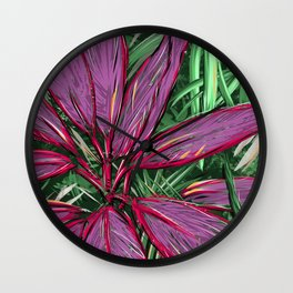 Florida  Tropical Colors Wall Clock