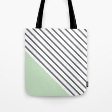 Diagonal Block - Mint Tote Bag