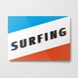 SURFING 3D Metal Print