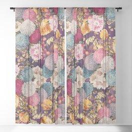 EXOTIC GARDEN X Sheer Curtain