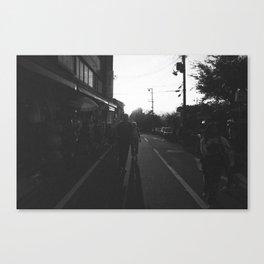 people walking in the street / Kyoto, Japan Canvas Print