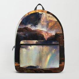 The Chasm of the Colorado, Windswept Rain Storm, Grand Canyon landscape by Thomas Moran Backpack