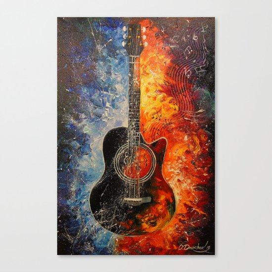 The rhythms of the guitar Canvas Print