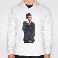 harry styles Hoodies featuring Harry Styles by Christa Morgan ☽