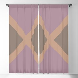 Brown Pink-Purple Minimal Diagonal Line Pattern 2021 Color of the Year Canyon Dusk & Accent Shades Blackout Curtain
