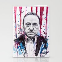 house of cards Stationery Cards featuring Frank Underwood - House of Cards by Denise Esposito
