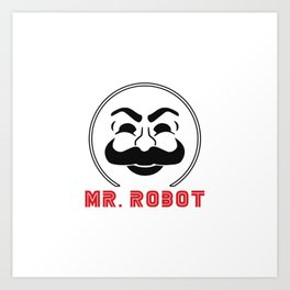 MR Robot Fsociety Art Print