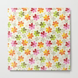 Flowers Pattern                       Metal Print
