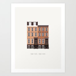 New York City, NYC Brownstone Art Print
