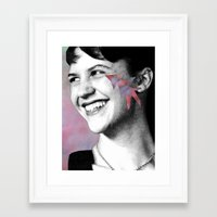 sylvia plath Framed Art Prints featuring Sylvia Plath by Grace