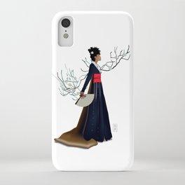 Modern Woman in Kimono iPhone Case