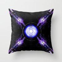ouija Throw Pillows featuring Ouija by Vibrance MMN