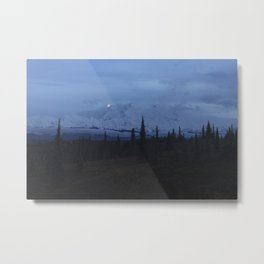 Denali Blue Hour Metal Print