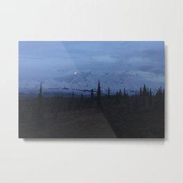 Denali Blue Hour Metal Print