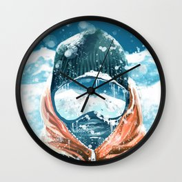 climber in the everest Wall Clock