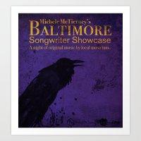 Baltimore Songwriter Showcase poster design Art Print