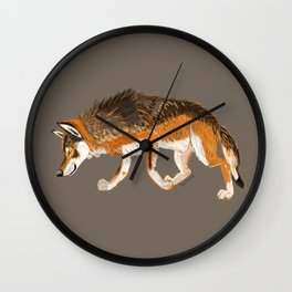 Wolves of the world: Italian Wolf Canis lupus italicus Wall Clock