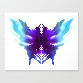 Rorschach Ink Blot Art Canvas Print