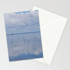Picture Perfect Blue Sky Water Bay Scene Landscape  Stationery Cards
