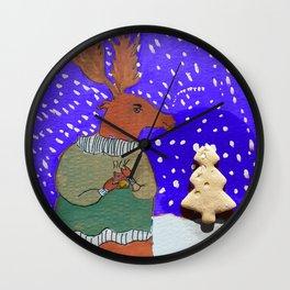 Moose with Tea Wall Clock