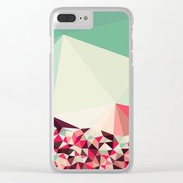 Poppy Field Tris Clear iPhone Case