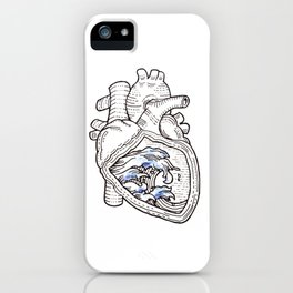 Ocean heart | Retro waves iPhone Case