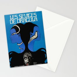 Vintage Horror film poster -Twins of Evil (1971) Stationery Cards