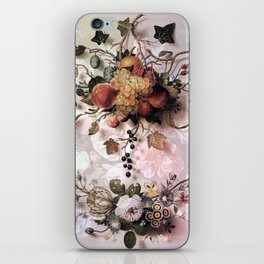 Victorian flowers and fruits iPhone Skin