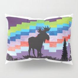 Moose Night Walk Pillow Sham