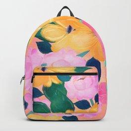 Cute Colorful Romantic Watercolor Flowers Backpack
