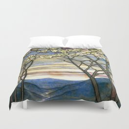 Louis Comfort Tiffany - Decorative stained glass 5. Duvet Cover
