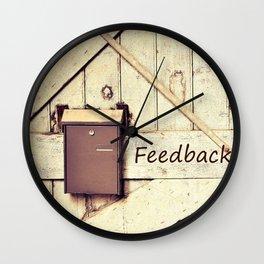 Feedback Wall Clock