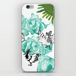Chickens for Miles iPhone Skin