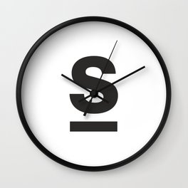 Letter and Line Wall Clock