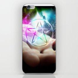 Magickal flaming pentacle iPhone Skin