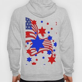 PATRIOTIC JULY 4TH AMERICAN FLAG ART Hoody
