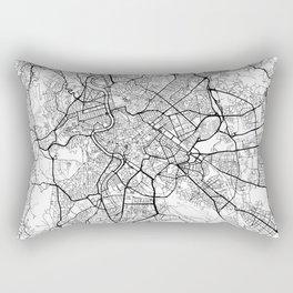 Rome Map White Rectangular Pillow