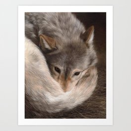 Timber Wolf Painting Art Print