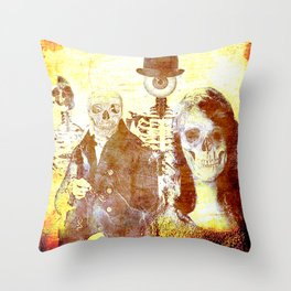 Monsieur Bone and downstairs neighbours Throw Pillow