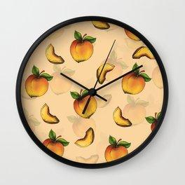 Peach Design Wall Clock