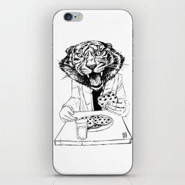 tiger eating cookie iPhone Skin