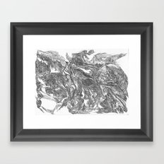 Woman Emerging from the Thicket of Time Framed Art Print