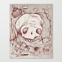 occult Canvas Prints featuring Series Occult by hatrobot