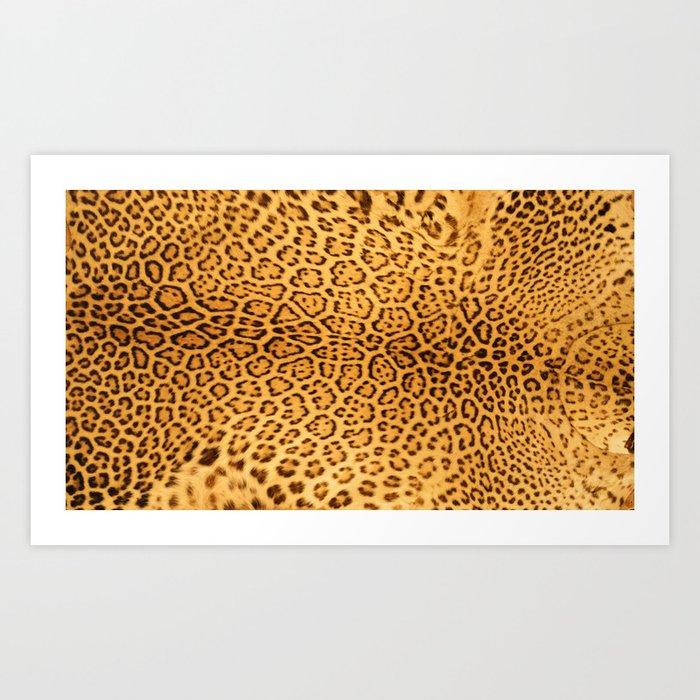 Brown Beige Leopard Animal Print Kunstdrucke