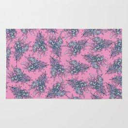 Grapes Pattern Pink Rug