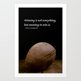 Vince Lombardi On Winning Art Print