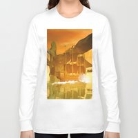 pirate ship Long Sleeve T-shirts featuring Pirate ship  by nicky2342
