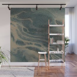 White Rivers, Acrylic Pour Wall Mural